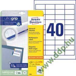 Etikett 4780 48,5x25,4mm 25ív Avery-Zweckform QuickPeel
