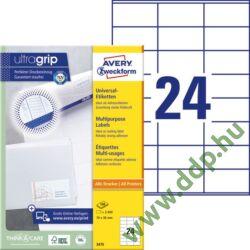Etikett 3475 70x36mm 100ív Avery-Zweckform fehér