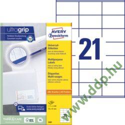 Etikett 3481 70x41mm 100ív Avery-Zweckform fehér