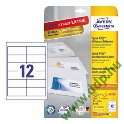 Etikett 4781 97x42,3mm 25ív Avery-Zweckform QuickPeel fehér