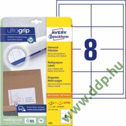 Etikett 4782 97x67,7mm 25ív Avery-Zweckform QuickPeel fehér