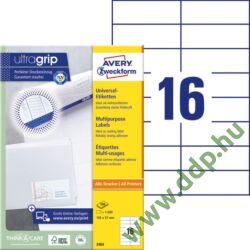 Etikett 3484 105x37mm 100ív Avery-Zweckform fehér