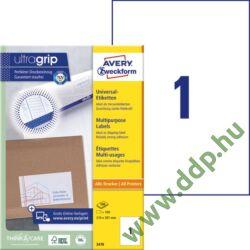 Etikett 3478 210x297mm 100ív Avery-Zweckform fehér