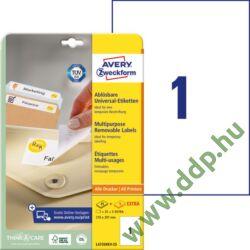 Etikett 4735 210x297mm 25ív L4735-25 Avery-Zweckform fehér