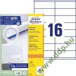 Etikett 3423 105x35mm 100ív Avery-Zweckform fehér