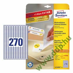 Etikett 4730 17,8x10mm 25ív L4730REV-25 Avery-Zweckform fehér