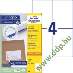 Etikett 3483 105x148mm 100ív Avery-Zweckform fehér