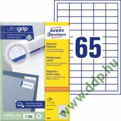 Etikett 3666 38x21,2mm 100ív Avery-Zweckform QuickPeel