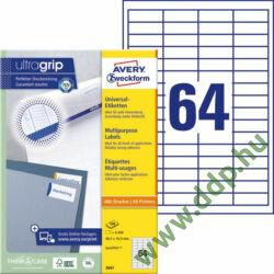 Etikett 3667 48,5x16,9mm 100ív Avery-Zweckform QuickPeel