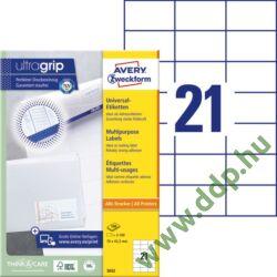 Etikett 3652 70x42,4mm 100ív Avery-Zweckform