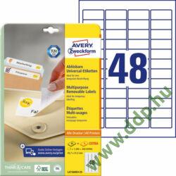 Etikett 4736 45,7x21,2mm 25ív L4736REV-25 Avery-Zweckform