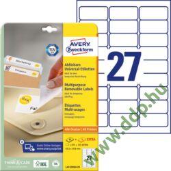 Etikett 4737 63,5x29,6mm 25ív L4737EV-25 Avery-Zweckform