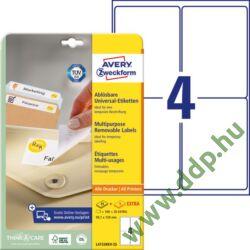 Etikett címke speciális visszaszedhető 99,1x139mm 30ív L4733REV-25 Avery-Zweckform