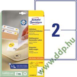 Etikett címke speciális visszaszedhető 199,6x143,5mm 30ív L4734REV-25 Avery-Zweckform