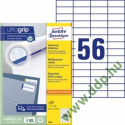Etikett címke univerzális 3668 52,5x21,2mm 100ív Avery-Zweckform