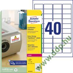 Etikett 6140-20 45,7x25,4mm 20 ív Avery-Zweckform