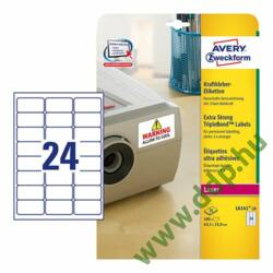 Etikett 6141-20 63,5x33,9mm 20 ív Avery-Zweckform