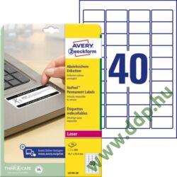 Etikett 6145-20 45,7x25,4mm 20 ív Avery-Zweckform