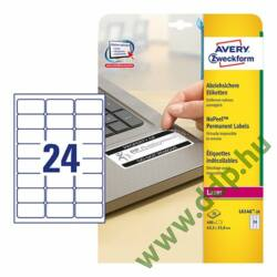 Etikett 6146-20 63,5x33,9mm 20 ív Avery-Zweckform