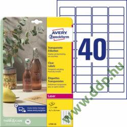 Etikett 7781-25 45,7x25,4 víztiszta 25ív Avery-Zweckform