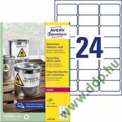 Etikett 4773 63,5x33,9mm 20 ív poliészter vízálló Avery-Zweckform