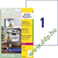 Etikett 4775 210x297mm 20 ív poliészter vízálló Avery-Zweckform