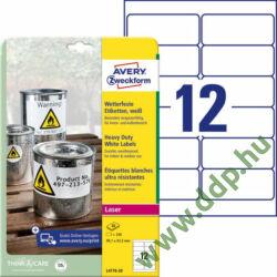 Etikett 4776 99,1x42,3mm 20 ív poliészter vízálló Avery-Zweckform