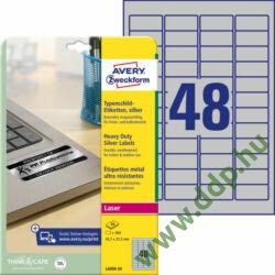 Etikett 6009 45,7x21,2mm 20 ív ezüst ipari Avery-Zweckform