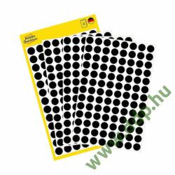 Etikett öntapadó 8mm kör Avery-Zweckform 3009 fekete 416 jelölőpont/csm