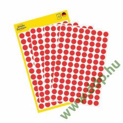 Etikett öntapadó 8mm kör Avery-Zweckform 3010 piros 416 jelölőpont/csm