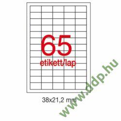 Etikett A1776 21,2x38mm 500ív Apli