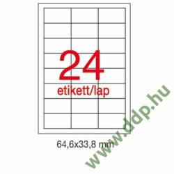Etikett A1781 33,8x64,6mm 500ív Apli