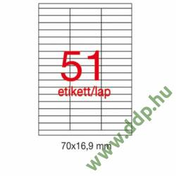 Etikett A1294 70x16,9mm 100ív Apli