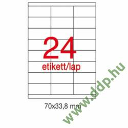 Etikett A1293 70x33,8mm 100ív Apli