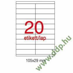 Etikett A1299 105x29mm 100ív Apli