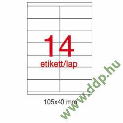 Etikett A1786 40x105mm 500ív Apli