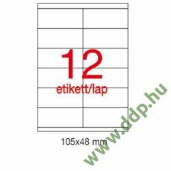 Etikett A10563 48x105mm 500ív Apli