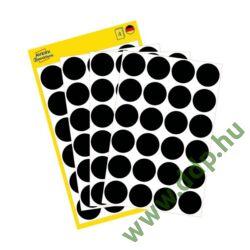 Etikett öntapadó 18mm 96 jelölőpont/csm Avery-Zweckform fekete -3003-