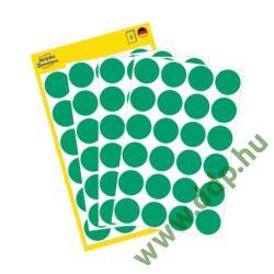 Etikett öntapadó kör 18mm 96 jelölőpont/csm Avery-Zweckform zöld -3006-