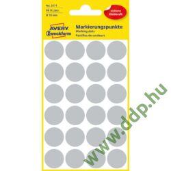 Etikett öntapadó 18mm 96 jelölőpont/csm Avery-Zweckform szürke -3171-