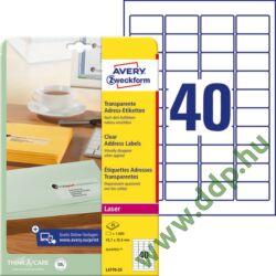 Etikett címke címzés L4770-25 45,7x25,4mm 25ív Avery-Zweckform QuickPeel