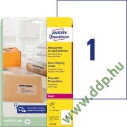 Etikett 7567 210x297mm 25ív átlátszó L7567-25 Avery-Zweckform