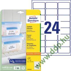 Etikett címke speciális L7970-20 fagyasztó címke 63,5 x 33,9 mm
