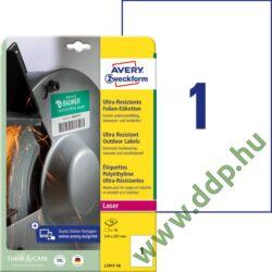 Etikett címke ultra ellenálló 210 x 297 mm Avery-Zweckform -L7917-10-