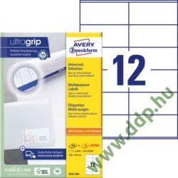 Etikett címke univerzális fehér 105x48mm 220ív -3424-200- Avery-Zweckform