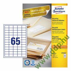 Etikett LR3666 38x21,2mm recycled 100ív Avery-Zweckform