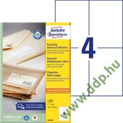 Etikett LR3483 105x148mm recycled 100ív Avery-Zweckform