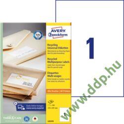 Etikett LR3478 210x297mm recycled 100ív Avery-Zweckform