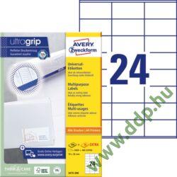 Etikett címke univerzális fehér 70x36mm 220ív -3475-200- Avery-Zweckform