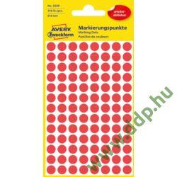 Etikett címke speciális visszaszedhető piros 8mm 4ív -3589- Avery-Zweckform